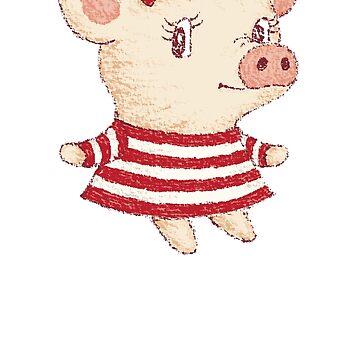 Linda chica de cerdo de sanogawa