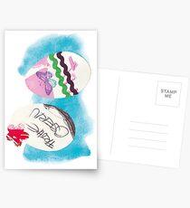 Frohe Ostern: Bunte Oster-Eier Postkarten