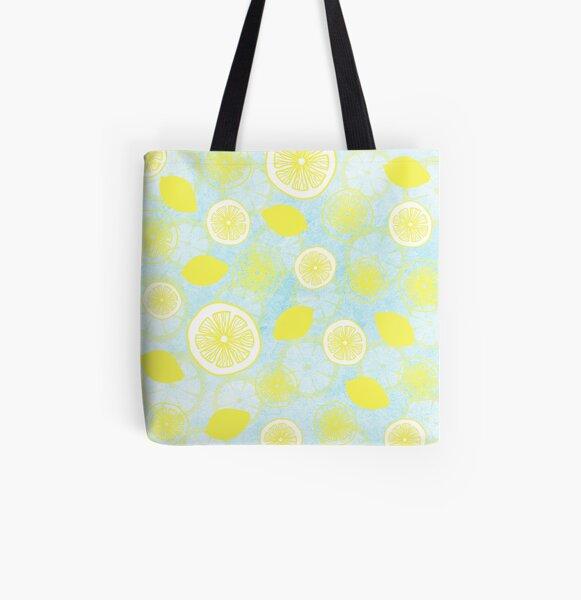 Lemon Fresh All Over Print Tote Bag
