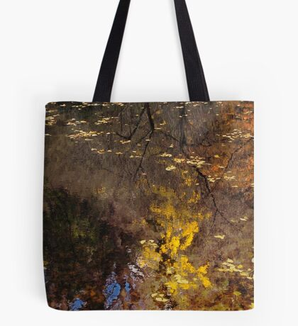 Late Autumn Reflections on Pond Tote Bag