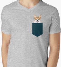 Teagan - Corgi Welsh Corgi gift phone case design for pet lovers and dog people Men's V-Neck T-Shirt