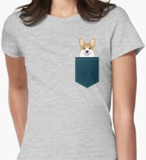 Teagan - Corgi Welsh Corgi gift phone case design for pet lovers and dog people Women's Fitted T-Shirt