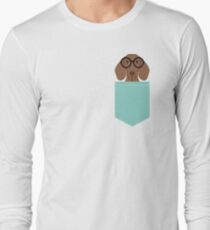 Remy - Fashion Glasses Doxie Dashcund Hipster Dog  Long Sleeve T-Shirt
