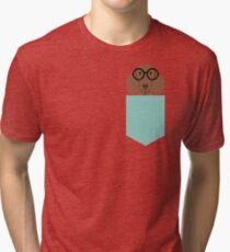 Camiseta de tejido mixto Remy - Gafas de moda Doxie Dashcund Hipster Dog