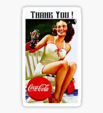 Pegatina Coca cola antigua publicidad