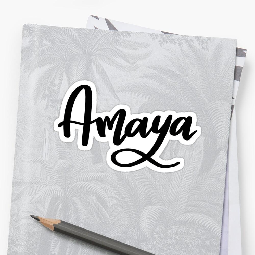 Amaya  Sticker