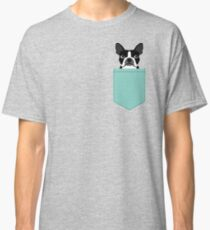 Logan - Boston Terrier pet design with bold and modern colors for pet lovers Classic T-Shirt