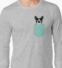 Logan - Boston Terrier pet design with bold and modern colors for pet lovers Long Sleeve T-Shirt