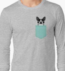 Camiseta de manga larga Logan - Boston Terrier diseño de mascotas con colores audaces y modernos para los amantes de las mascotas