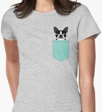 Logan - Boston Terrier pet design with bold and modern colors for pet lovers Women's Fitted T-Shirt