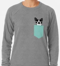 Logan - Boston Terrier pet design with bold and modern colors for pet lovers Lightweight Sweatshirt