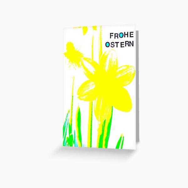 Frohe Ostern: Osterglocke Grußkarte