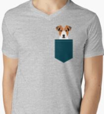 Bailey - Jack Russell Terrier phone case art print gift for dog people Jack Russell Terrier owners V-Neck T-Shirt