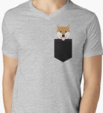 Indiana - Shiba Inu gift design for dog lovers and dog people Men's V-Neck T-Shirt