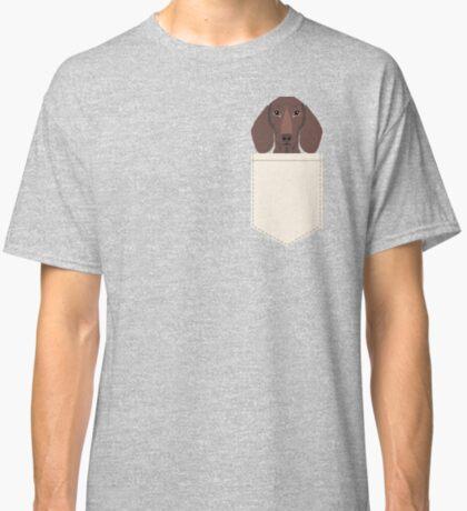Piper - Dachshund, weener dog, wiener dog, pet portrait, sausage dog, pet Classic T-Shirt