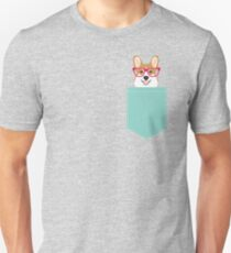 Teagan Glasses Corgi cute puppy welsh corgi gifts for dog lovers and pet owners love corgi puppies Unisex T-Shirt