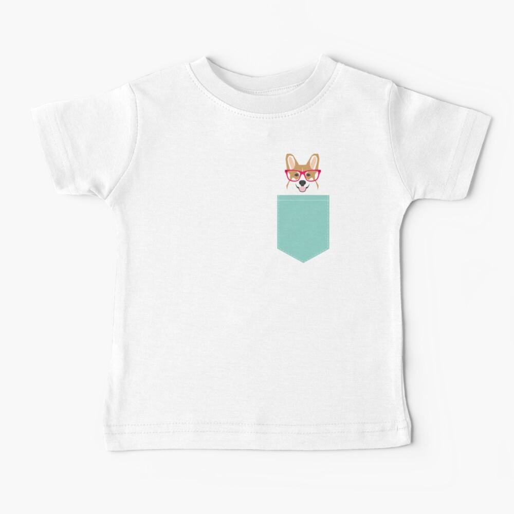 Teagan Glasses Corgi cute puppy welsh corgi gifts for dog lovers and pet owners love corgi puppies Baby T-Shirt