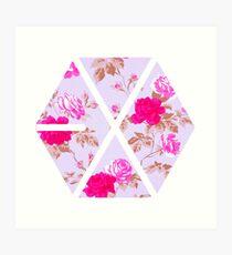 EXO - Floral Art Print