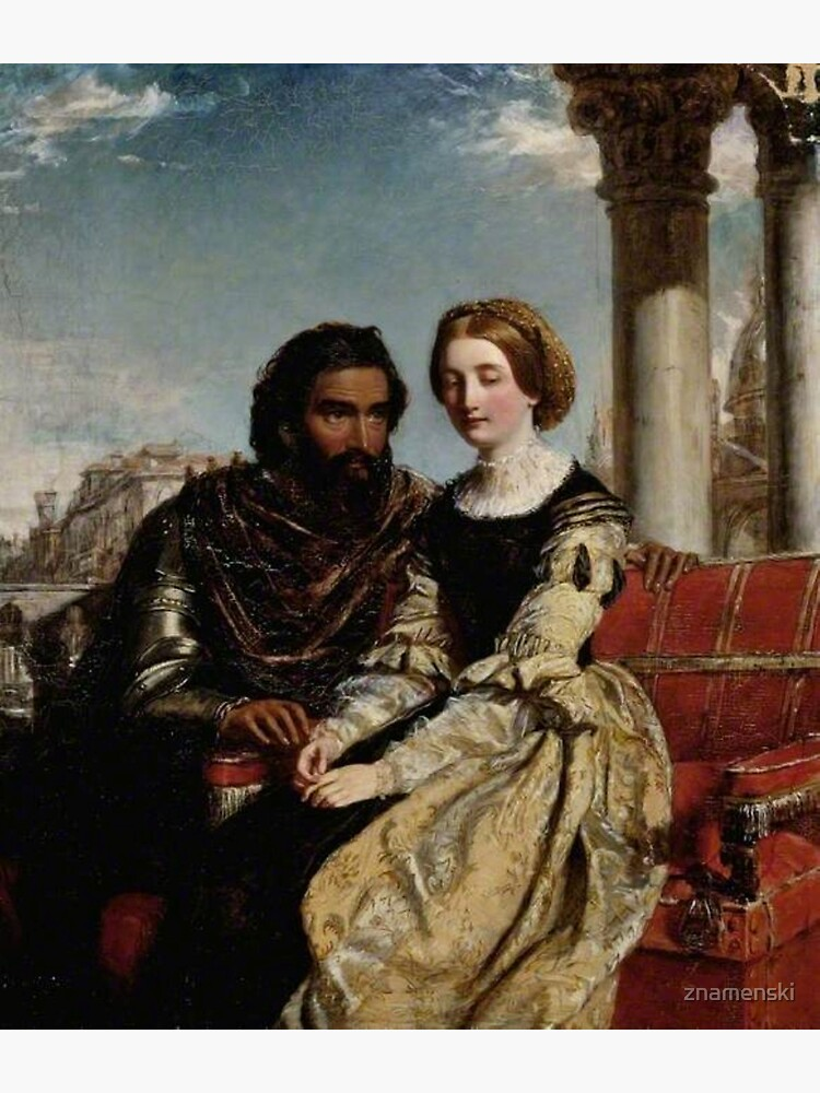 Othello and Desdemona - William Powell Frith - Date unknown - Fitzwilliam Museum - Cambridge (England) Painting - oil on canvas  by znamenski