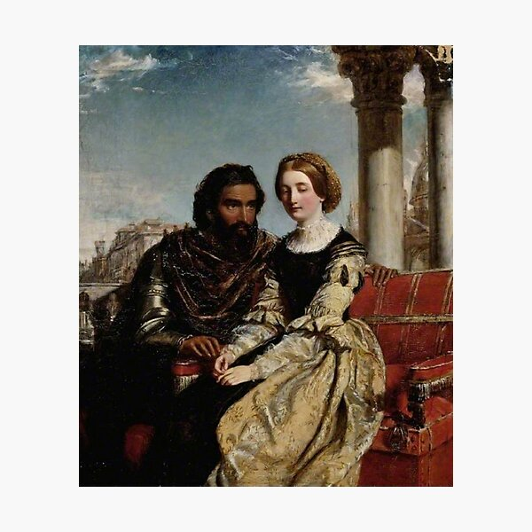 Othello and Desdemona - William Powell Frith - Date unknown - Fitzwilliam Museum - Cambridge (England) Painting - oil on canvas  Photographic Print