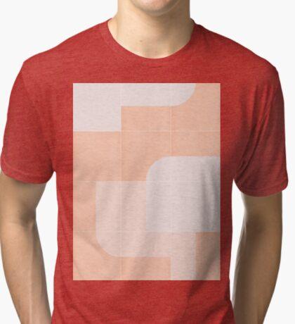 Retro Tiles 04 #redbubble #pattern Tri-blend T-Shirt