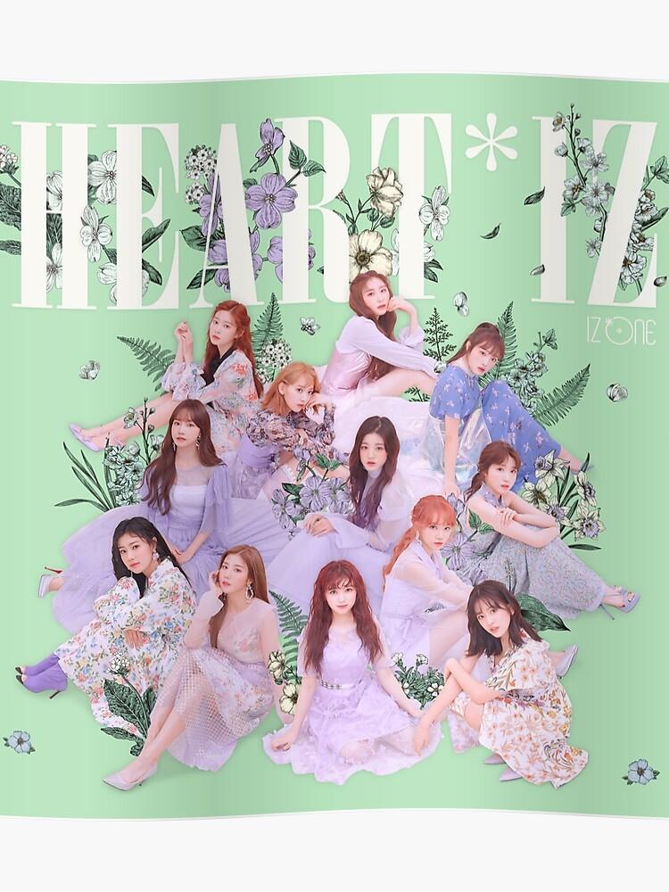 IZ*ONE HEART*IZ (2nd Mini Album) Violeta Version | Group | Poster