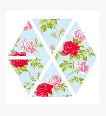 EXO - Blue Floral Photographic Print
