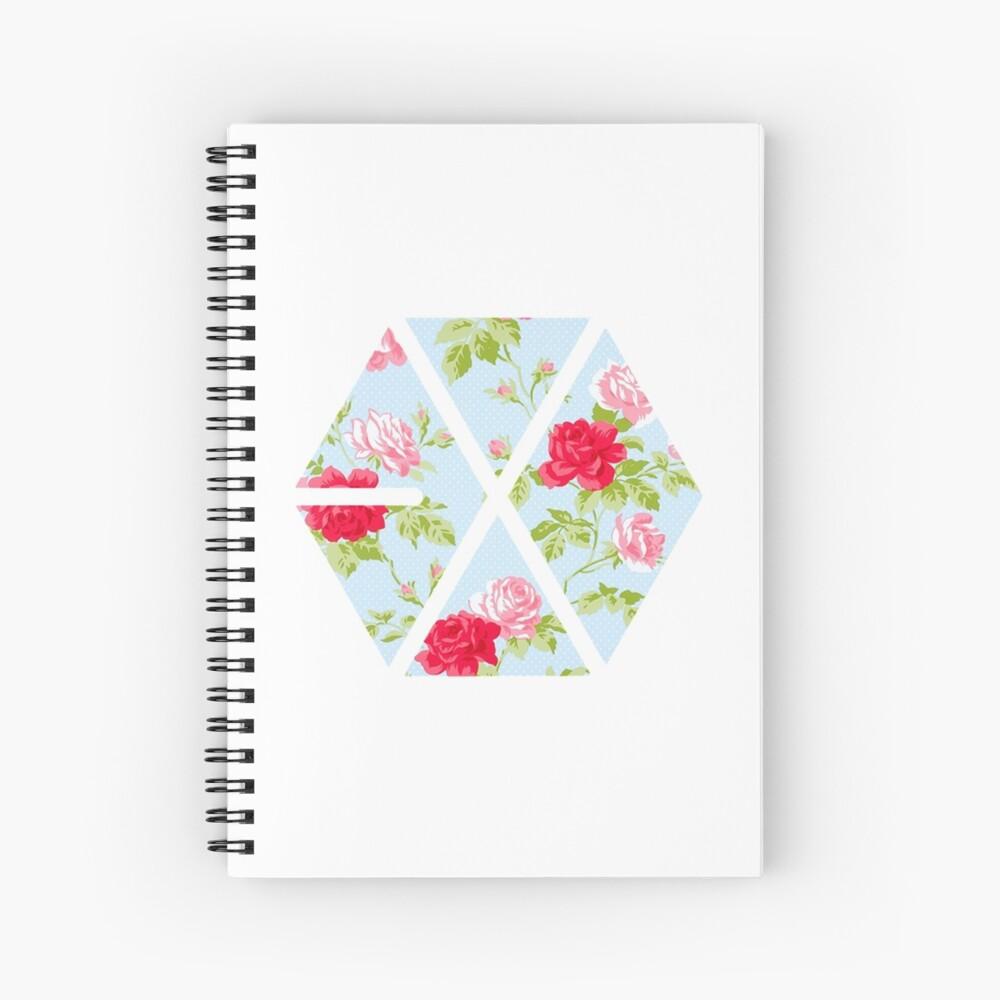 EXO - Blaue Blumen Spiralblock