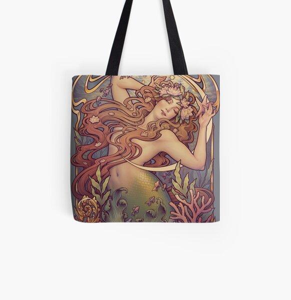 Andersen's Little Mermaid All Over Print Tote Bag