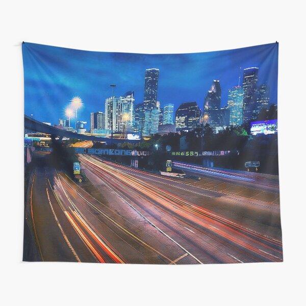 Houston Skyline Tapestry