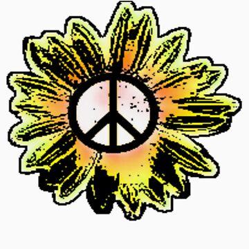 Sunflower Peace Sign 1 by fatgoose