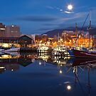 Victoria Dock, Early Morning by Chris Cobern