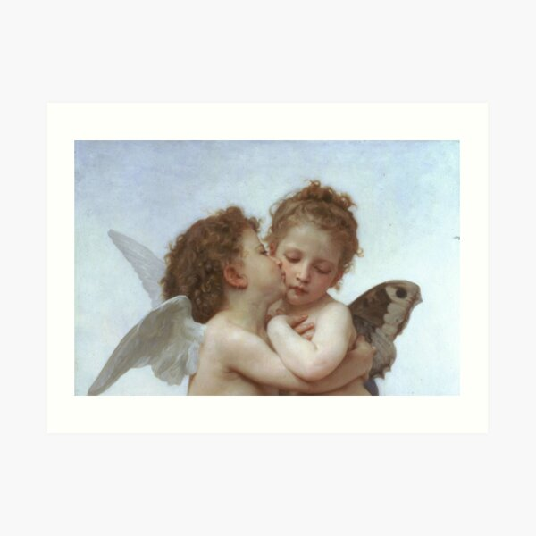 Lamour and Psyche Children – (William Adolphe Bouguereau) Art Print