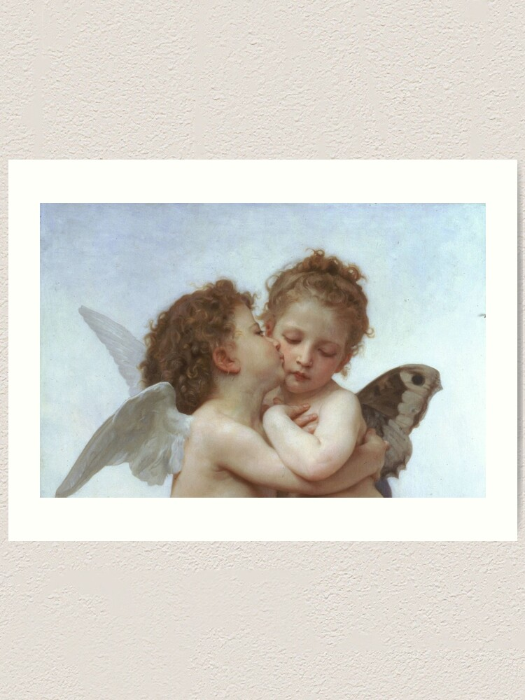 Alternate view of Lamour and Psyche Children – (William Adolphe Bouguereau) Art Print