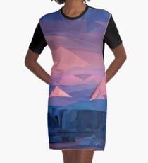 Berg Sonnenuntergang T-Shirt Kleid
