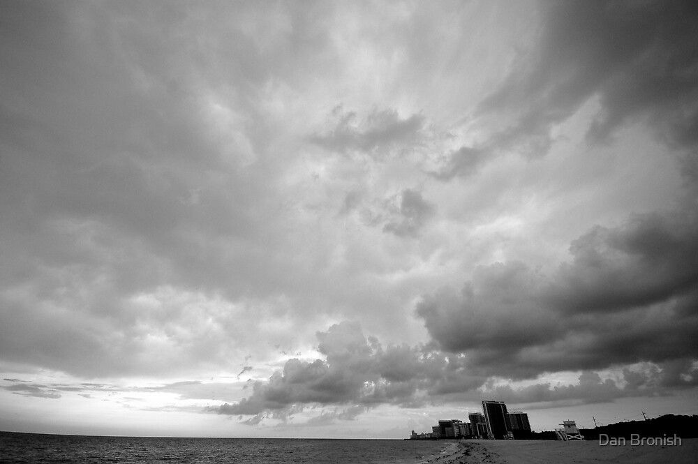 Storm Rolls Into Miami by Dan Bronish