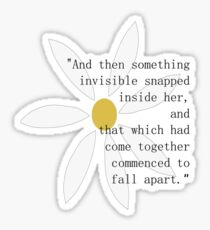 Looking for Alaska Flower + Quote Sticker