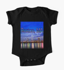 Harvard Bridge, colorful reflection One Piece - Short Sleeve