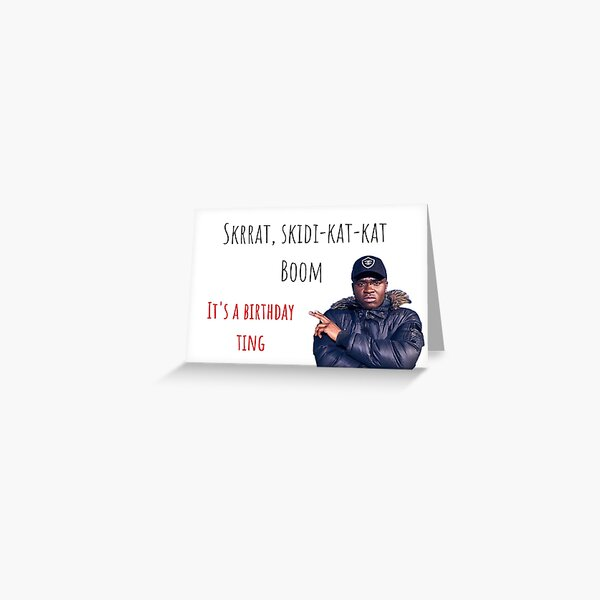 Birthday ting, Big Shaq, Funny British Rapper, Music greeting cards, Gift, Present, Ideas Greeting Card