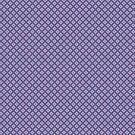 «Formas geométricas abstractas Diamante Cuadrícula Cuadrícula Púrpura oscuro, Púrpura claro, Azul y Blanco» de PIPAArtHomeDeco