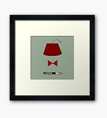 11th Doctor Minimalist Piece Framed Print