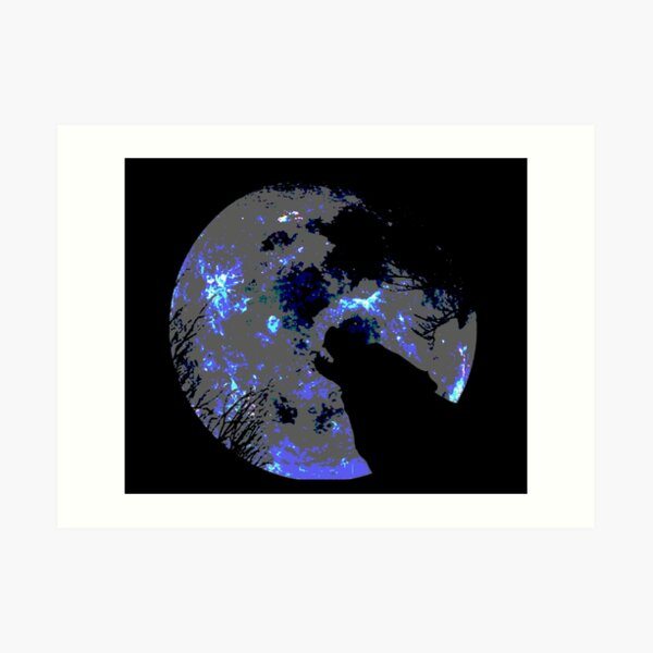 Wolf and Moon Impression artistique