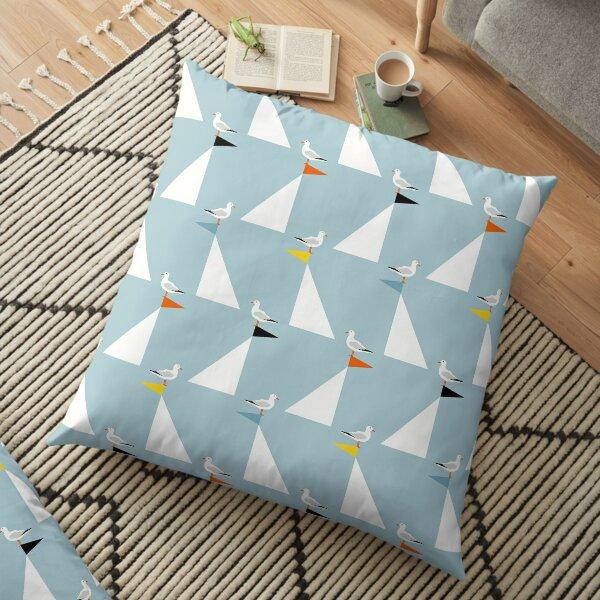 Seagulls & Sails - Ocean Floor Pillow