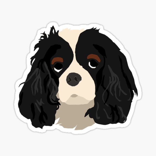 TriColor Cavalier King Charles Spaniel Sticker