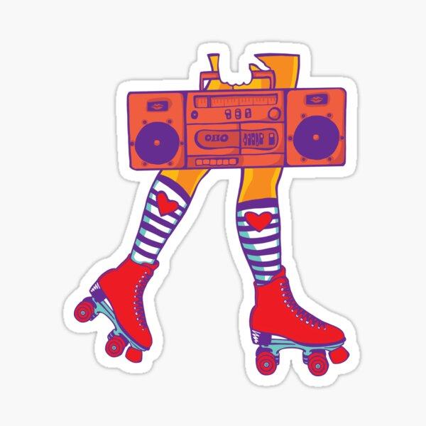 Copy of Boom Box (Purpleblue) Sticker
