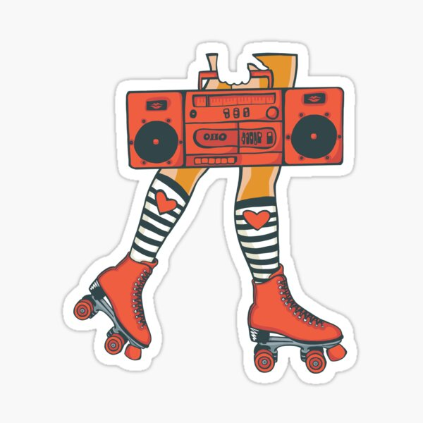 Copy of Copy of Boom Box (Red) Sticker
