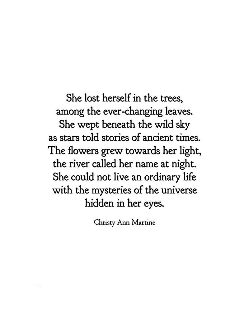 Boho Decor For Nature Lover Wild Sky Poem Ella Se Perdió