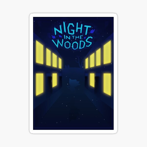 Night in the woods Street Sticker