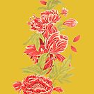 Bountiful - a floral piece - Yellow by EverhardDesigns