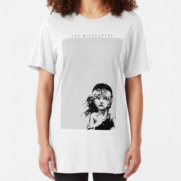Les Miserables Musical Full Script Lyrics Slim Fit T-Shirt